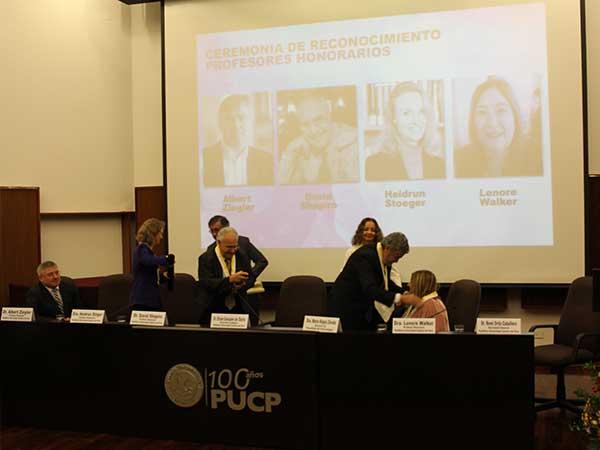 Peru and the Honorary Professor ceremony